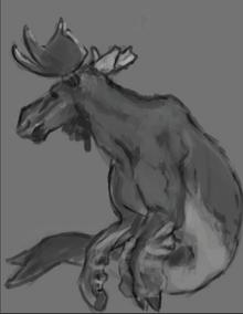 Great Ocean Moose fan art by @ThatJacksArt