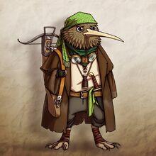 Pirate Kiwi Kenku fanart by @CitricKing