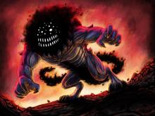 Tenebrous Demon official art by @dark e arts