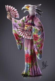 Secretary Kenku fan art by @yggdrassal