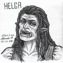 Helga fan art by @Dark E Arts