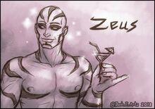 Zeus fan art by @Dark E Arts