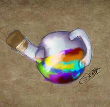 Rainbow potion fanart by @Jessi Lionheart