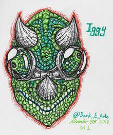 Iggy fan art by @Dark E Arts