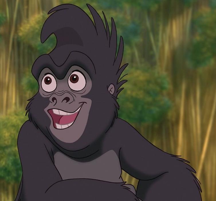 Happy Cartoon Gorilla Face Terk | The United Orga...