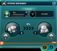 Stone refinery panel