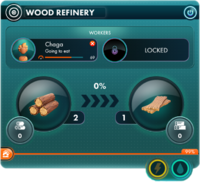 Wood refinery panel