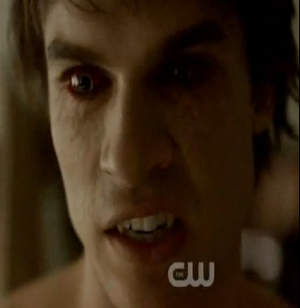 Damon vampire face