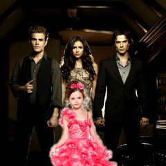 Elizabeth, Stefan, Damon, and Elena