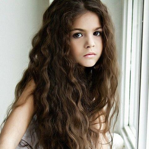Aspasia as a child.