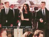 Klaus, Katherine, and Elijah