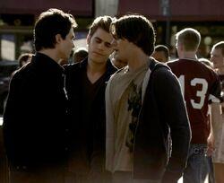 Stefan, Damon e Jeremy
