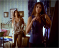 Lucy and Katherine getting ready.png