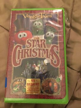 VEGGIE TALES THE STAR OF CHRISTMAS VHS TAPE Brand New
