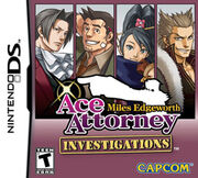 Ace Attorney Investigations Miles Edgeworth Game Cover