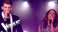 Johnny Hallyday - Que je t'aime Casanova et Amel Bent The Voice France 2018 Finale