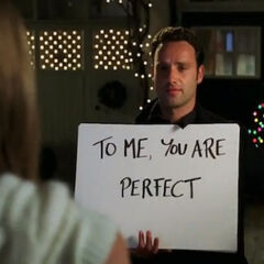 Andrew Lincoln como <i>Mark</i> en <i>Love Actually</i>.