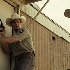 Garrett Dillahunt  como <i>Wendell</i> en <i>No country for old men</i>.