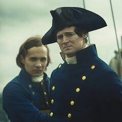 Frank Dillane como <i>Owen Coffin</i> en <i>In The Heart of the Sea</i>.
