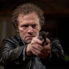 Michel Rooker como Abe en <i>Super</i>