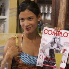Danay García como <i>Coqui</i> en <i>Liz en Septiembre</i>.