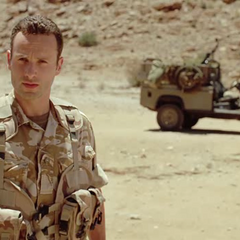 Andrew Lincoln como <i>Hugh Collinson</i> en <i>Strike Back</i>.