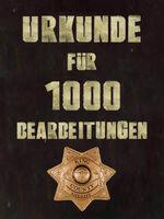 Urkunde 1000