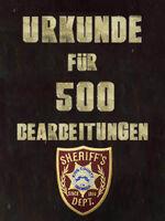 Urkunde 500