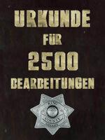 Urkunde 2500