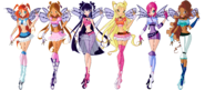 Winx club prebelievix designs by thedamnedfairy