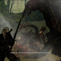 Geralt salva Letho de um osluzgo