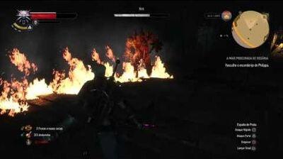 The Witcher 3- Wild Hunt - Matando um Elemental de Fogo