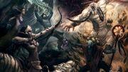 Skulls video games battle horns archers fantasy art dota artwork bow 1920x1080 wallpaper wallpaperswa.com 47