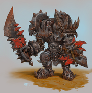 1074x1084 4666 Black Orc Armor 2d fantasy orc warrior armor picture image digital art