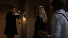 Zack holds a gun on Abby & Scott