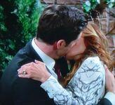 Lauren & Cane kiss