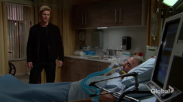 JT visits Victor in the hospital