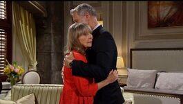 Dina & Graham hug