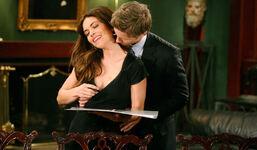 JT kisses Victoria's neck