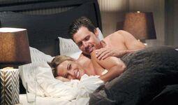 Nick Sage in bed