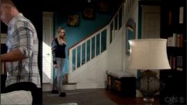Abby wears joggers