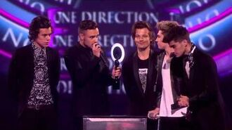 One Direction win British Video of the Year - BRITs Acceptance Speeches