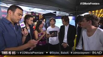 "One Direction ""This Is Us"" New York Premiere Fan Questions"