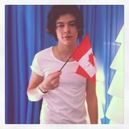 Harry with flag