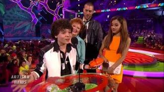 ARIANA GRANDE, ONE DIRECTION WIN BIG AT NICKELODEON KIDS CHOICE AWARDS, BLAINE FREAKS AUDIENCE