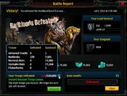 Pythus Lv20 WITH LOSS of 129 NOS - Evol - Researhes at Lv10 Gen Lv19 Att plus attack and defense bonuses - 3rd shot