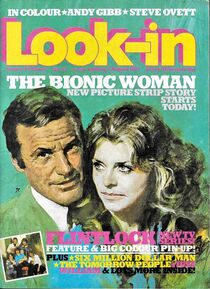 1977-08-06 Look-In 1 cover Bionic Woman