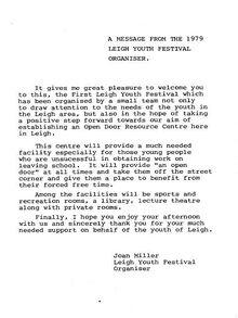 1979-08 Leigh Festival press release