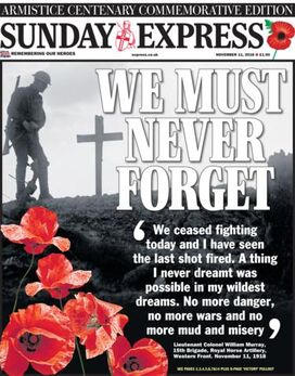 2018-11-11 Sunday Express 1 cover