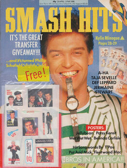 1988-04-20 Smash Hits 1 cover Schofield